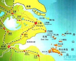 舟山群岛区位图