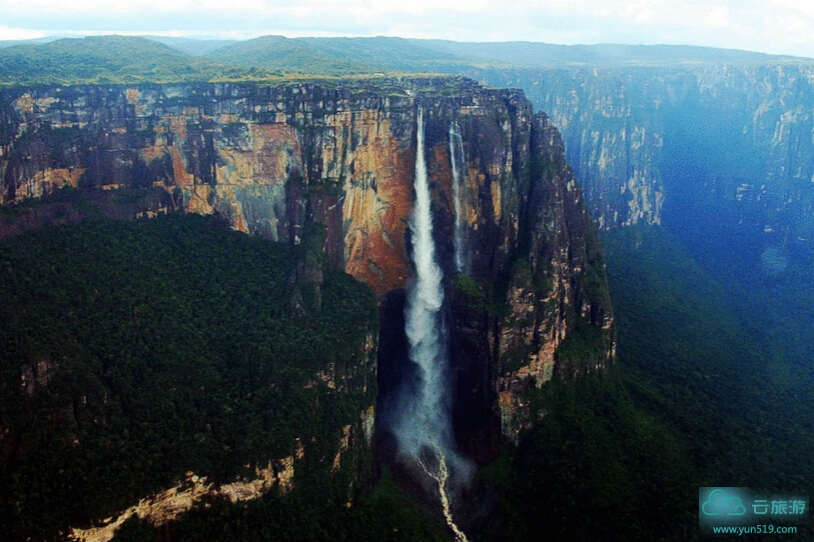 世界奇观,天下绝景,最美地球,全世界落差最大的瀑布~安赫尔瀑布。
