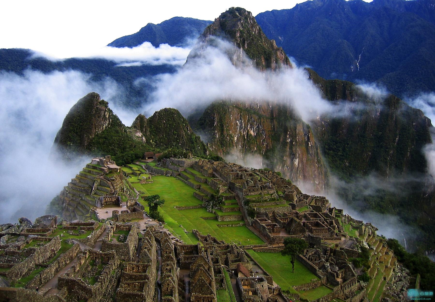 世界自文化与自然双遗产~南美洲秘鲁马丘比丘。